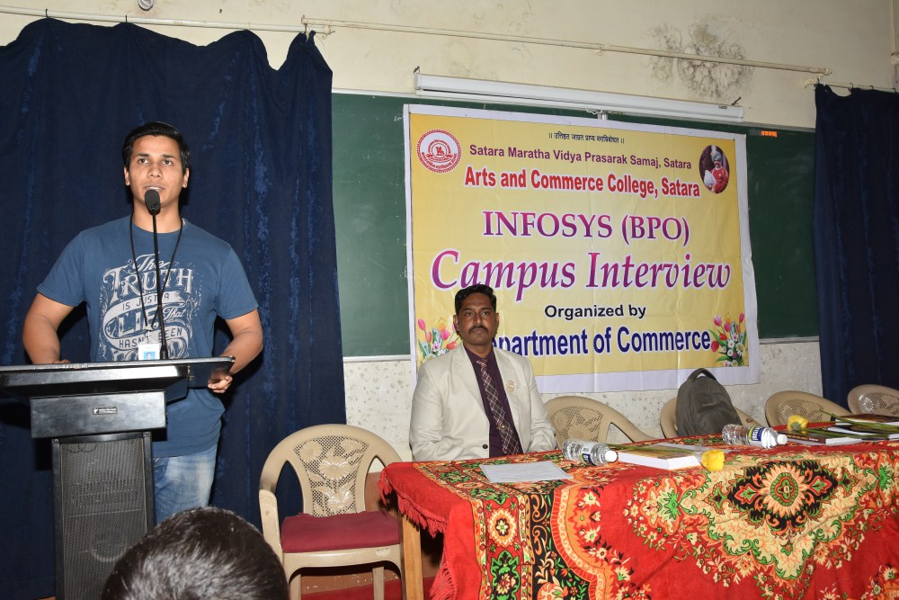 INFOSYS (BPO) CAMPUS INTERVIEW -ORG. BY DEPAETMENT OF COMMERCE 05 03 2018